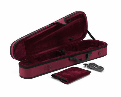 Buy Wholesale General Use Imitation Ox-tendon Leather Red Color Violin Triangle Case