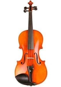 Concert Grade Solid Spruce & Ebony Made Flamed Violin Different Sizes with Accessories