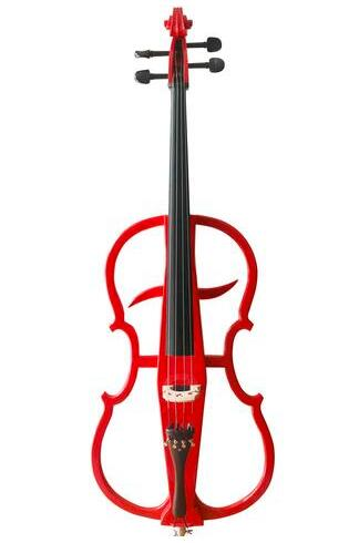 Buy Wholesale Professional Level Red Color Piano Lacquer Coated Electric Cello with Accessories