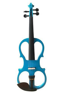 Buy Wholesale Professional Level Blue Color Piano Lacquer Coated Electric Violin with Accessories
