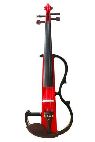 Buy Wholesale Professional Level Red Color Piano Lacquer Coated Electric Violin with Accessories