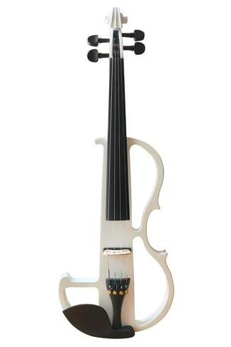 Buy Wholesale Concert Grade White Color Piano Lacquer Coated Electric Violin with Accessories