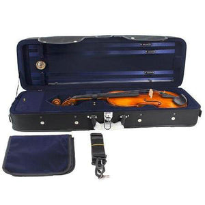 High Quality Imitation Ox-tendon Leather Shockproof Violin Square Case with Hygrometer