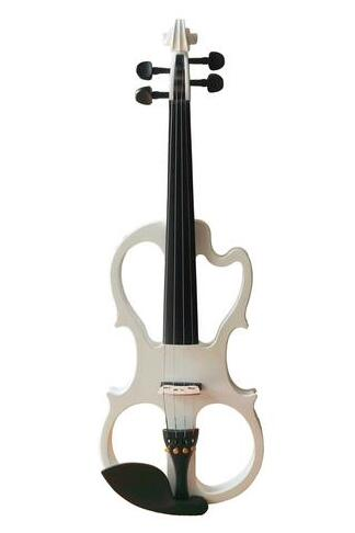 Buy Wholesale Professional Level White Piano Lacquer Coated Electric Violin with Accessories