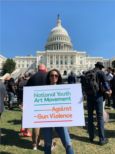 National Youth Art Movement at #EndGunViolence Rally in Washington, DC September 25, 2019.