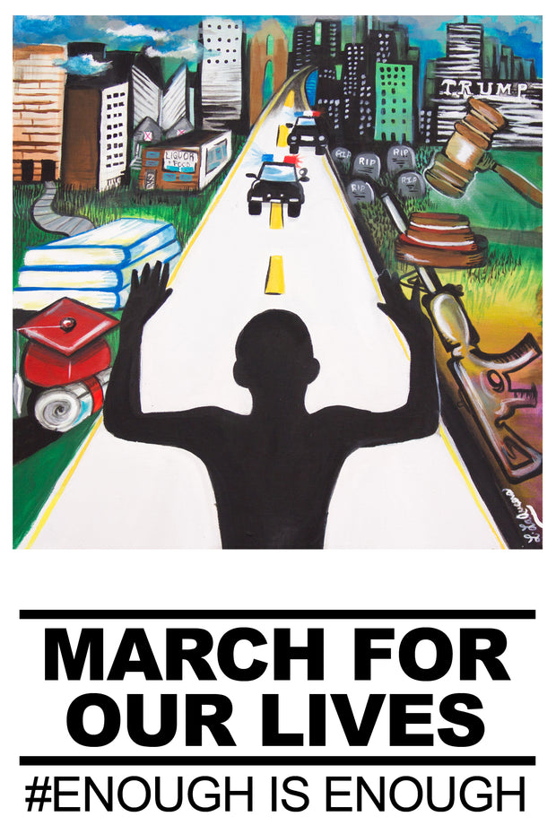 """Art for Our Lives"" Protest Poster -- ""Hands Up"" (15,000 Posters)"