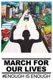 """Art for Our Lives"" Protest Poster -- ""Hands Up"" (500 Posters)"