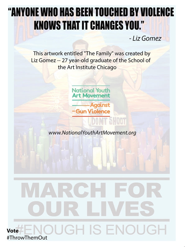 """Art for Our Lives"" Protest Poster -- ""The Family"""