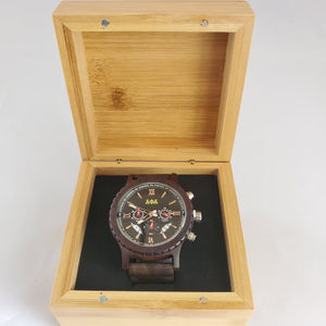 Alpha Phi Alpha Fraternity Wooden Watch with Engraved Gift Box