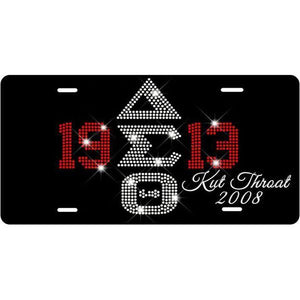 DST/1913 Customizable Bling Letter Car Tag