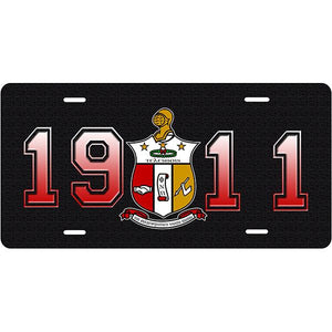 Kappa Alpha Psi 1911 Car Tag