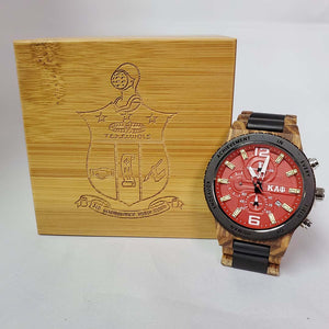 Kappa Alpha Psi Zebrawood watch