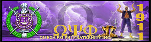 Omega Psi Phi Custom Print with Frame