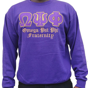 Omega Psi Phi Embroidered Sweatshirt