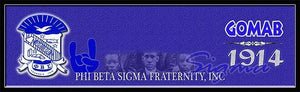 Phi Beta Sigma Custom Print with Frame