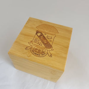 Phi Beta Sigma Fraternity Wooden Watch with Engraved Gift Box