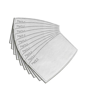 Replacement 2.5 Carbon face mask filter (10 Pack)