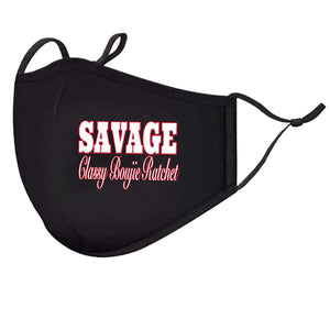 Savage Classy Boujie Ratchet Face Mask | Breathing Valve, Filter Pocket, Carbon Filter Included