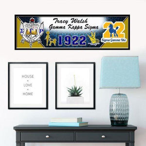 Sigma Gamma Rho Custom Print with Frame