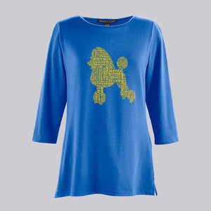 Sigma Gamma Rho Poodle Collage Bracelet Length Knit Top