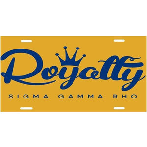 Sigma Gamma Rho Royaltty Car Tag