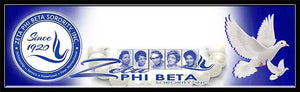 Zeta Phi Beta Custom Print with Frame