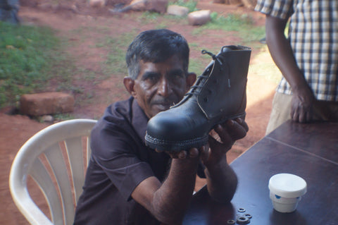 Leather Security Shoe made in Uganda factory
