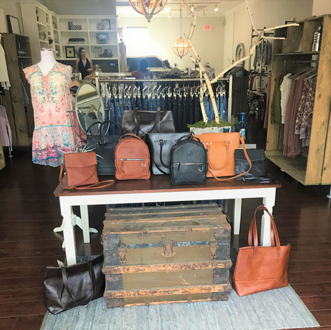 Venture Leather handbags retail san clemente fiorina south ethical fashion social impact tote backpack handbag