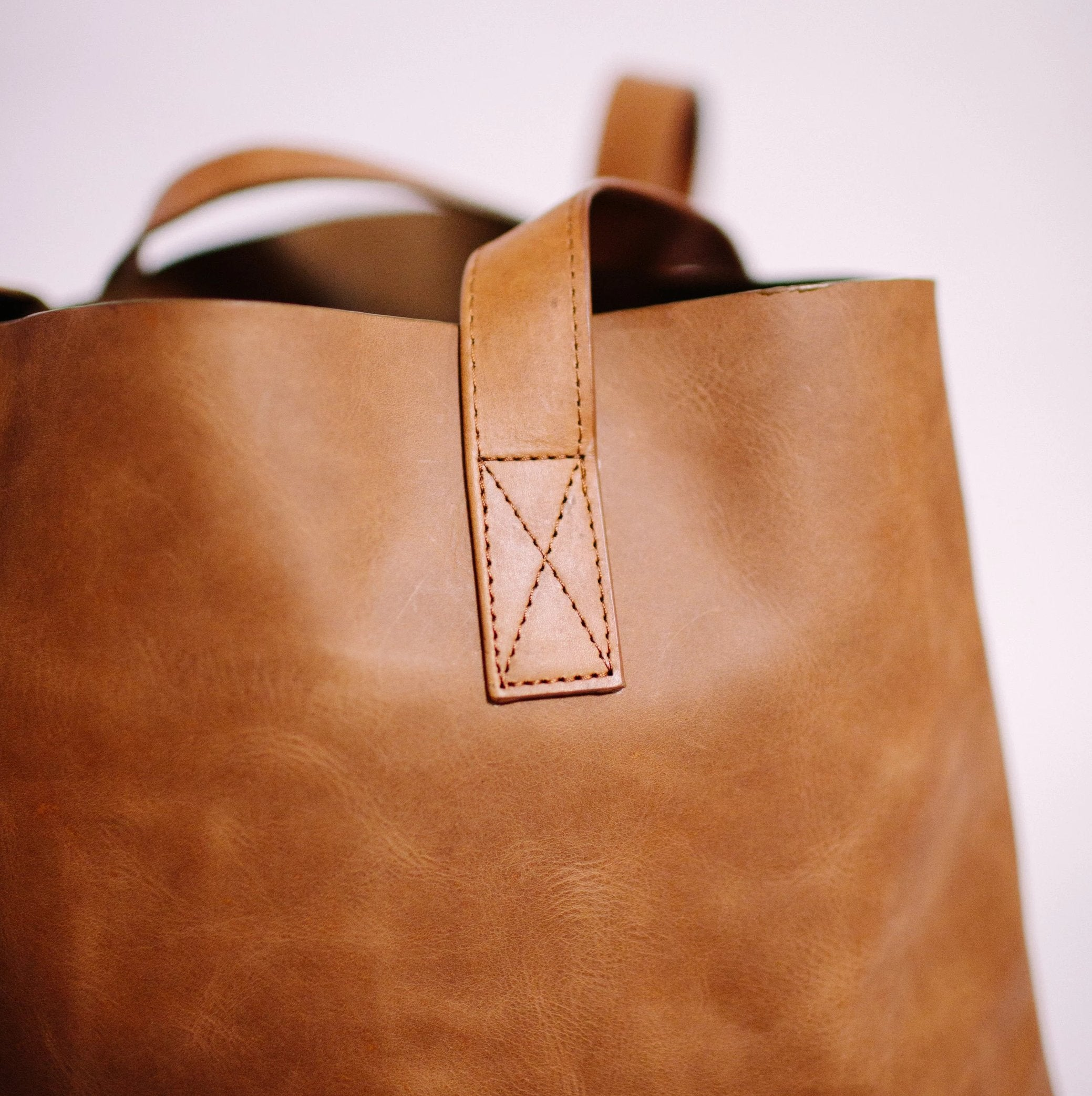Light Brown Leather Tote