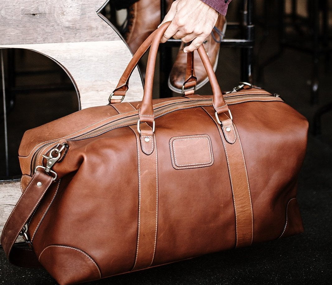 Light Brown Weekender Bag