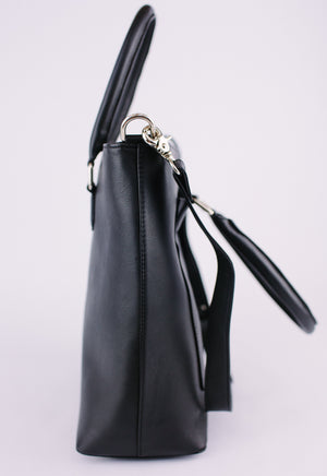 Black Pebble Shoulder Bag