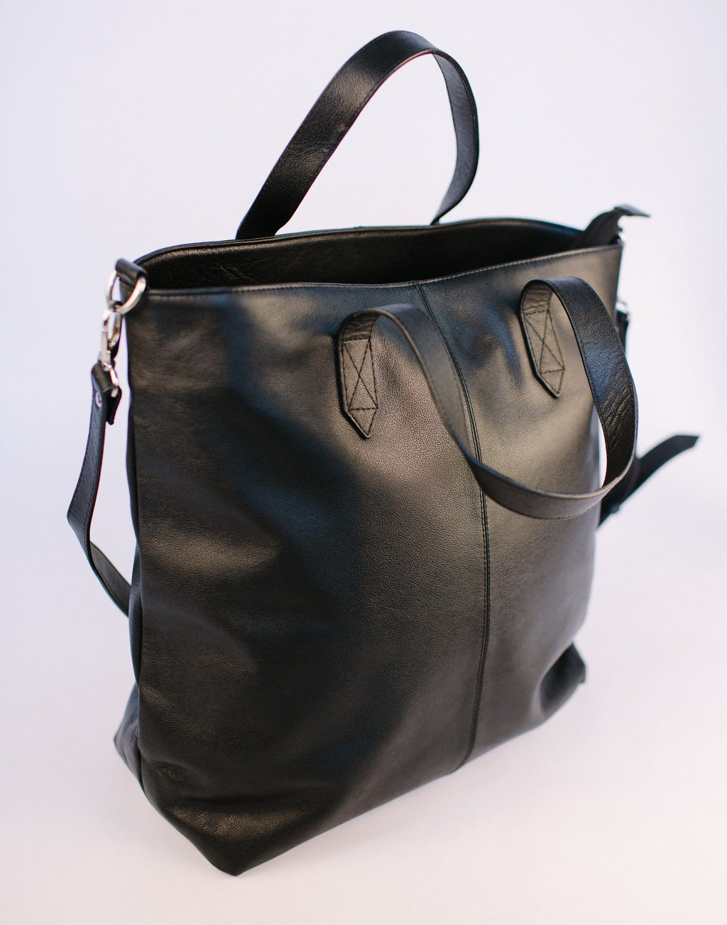 Black Zipped Tote