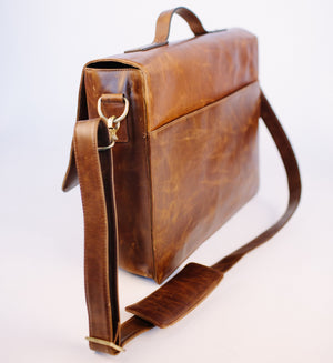 Rustic Brown Messenger Bag