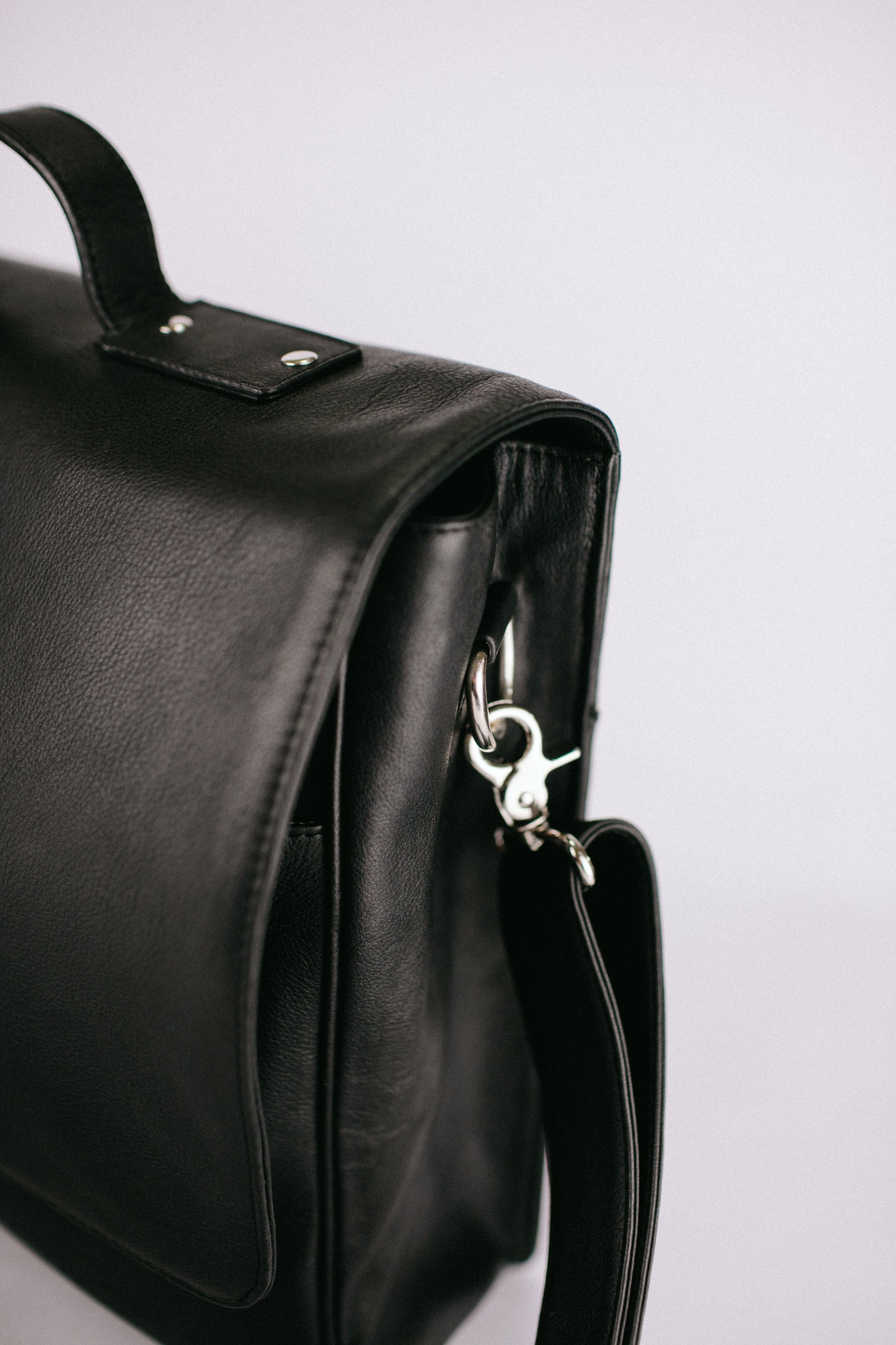 Black Leather Messenger