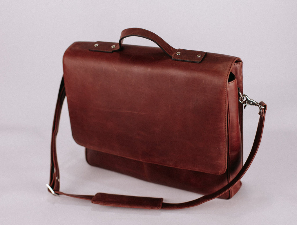 Medium Brown Messenger Bag