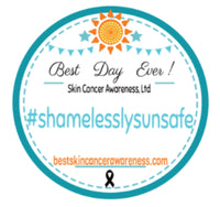 circle with sun and banner, shamelesslysunsafe