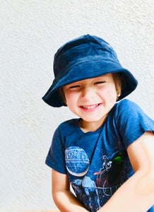 Children's Blue Corduroy Bucket Hat
