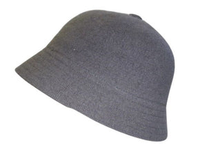 Ladies Grey Knit Bucket Hat