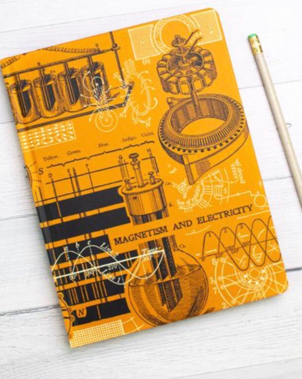 Magnetism & Electricity Hardcover Notebook/Field Notes - Dot Grid