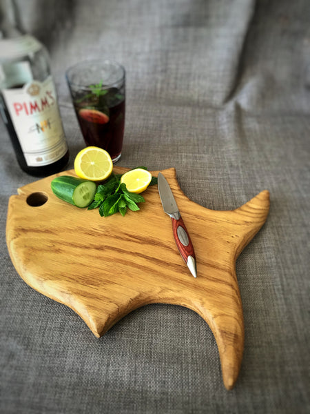 Small Oak Fish Board