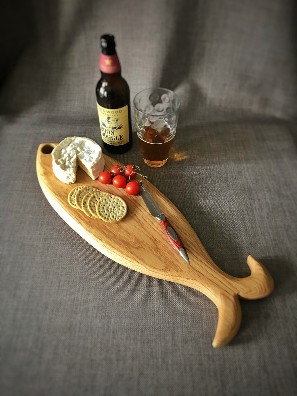 Fish shaped serving board