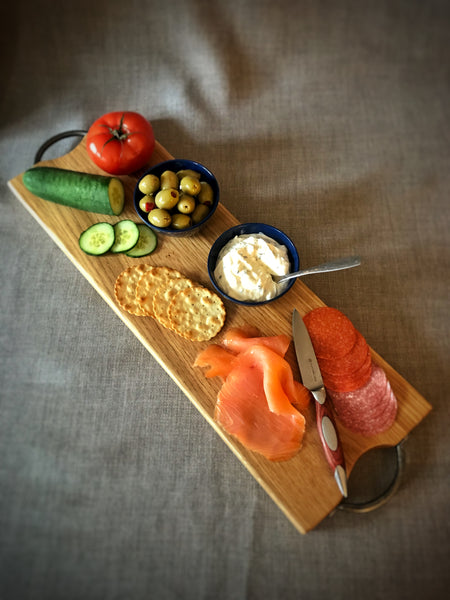 Oak Antipasti Board with Rustic Handles
