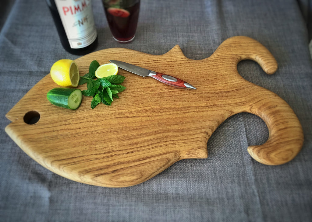 Large Oak Fish Board