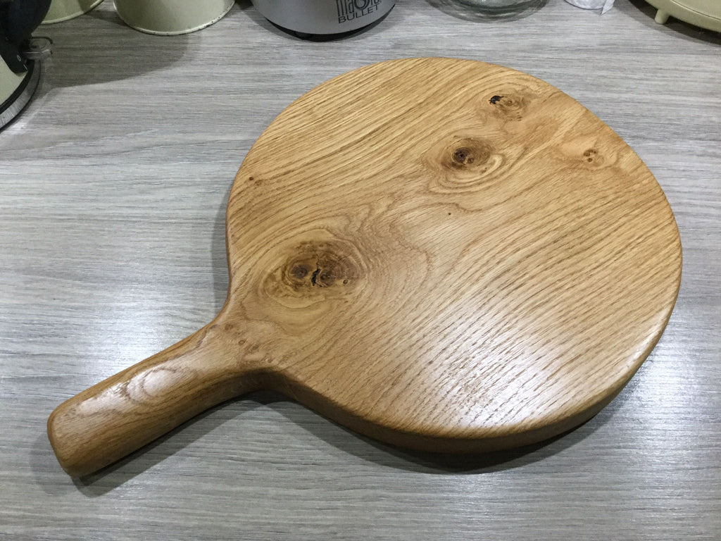 A round chopping or cheese board