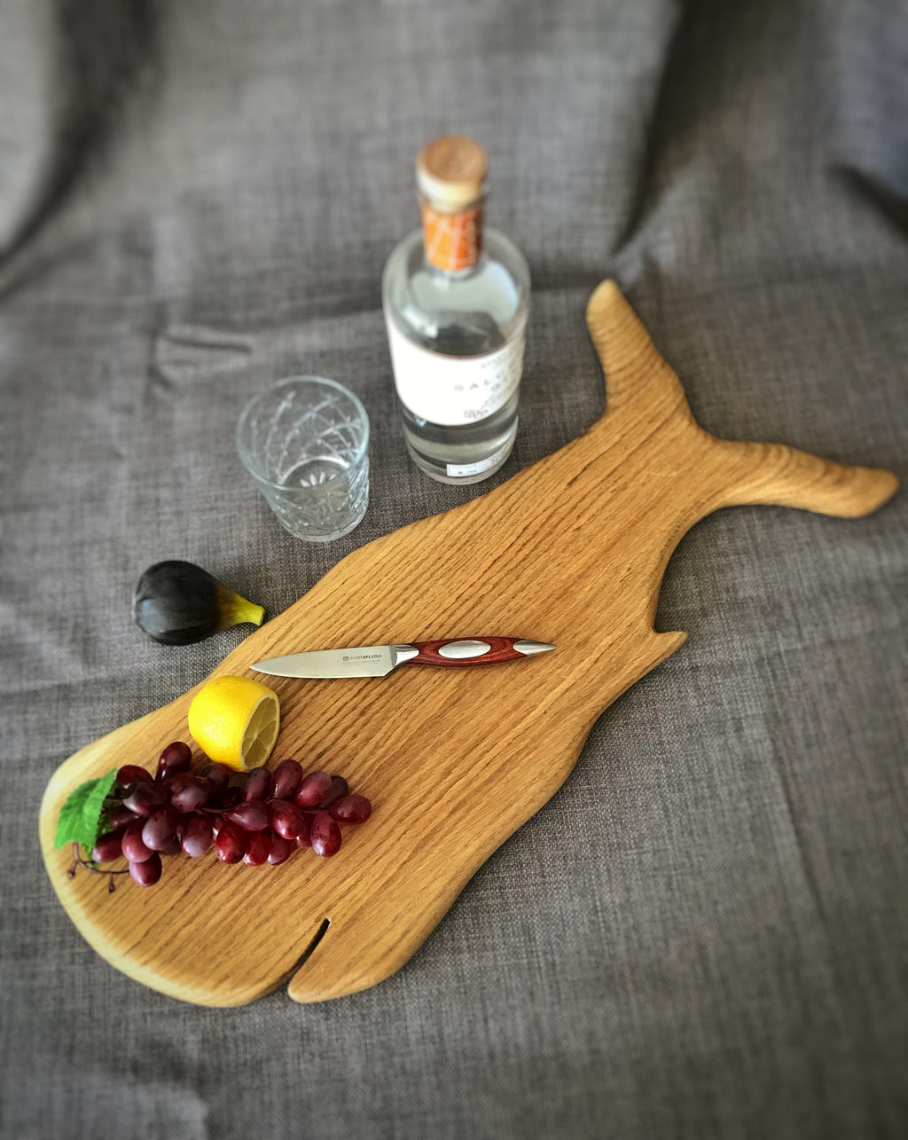 Oak Whale Serving Board