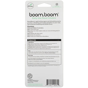 BoomBoom Natural Energy Inhalers - Variety 6-pack - No Rocketscience BV