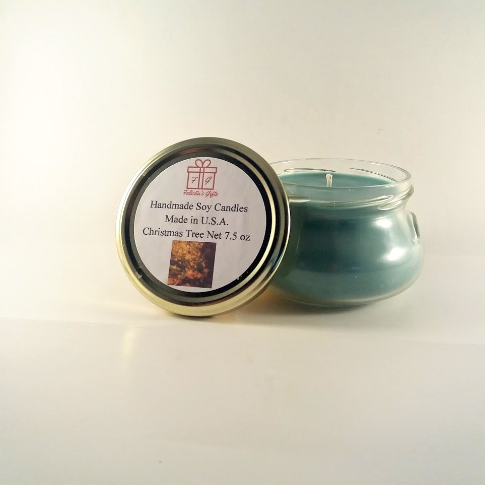 Christmas Tree Scented Soy Wax 7.5 oz Candle