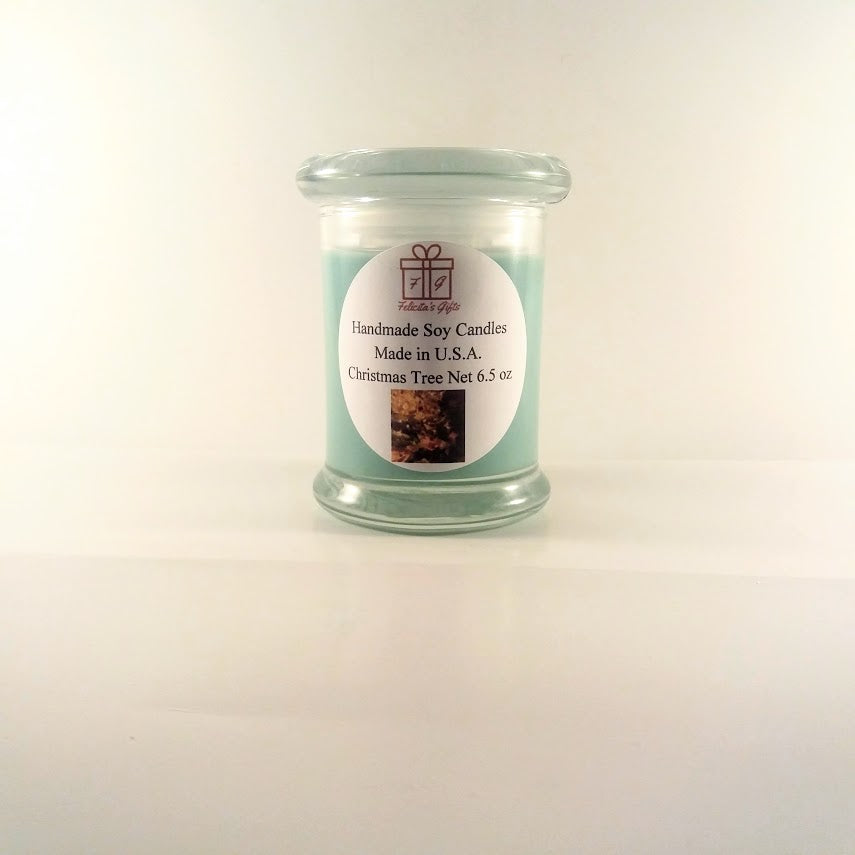 Christmas Tree Scented Soy Wax 6.5 oz Candle