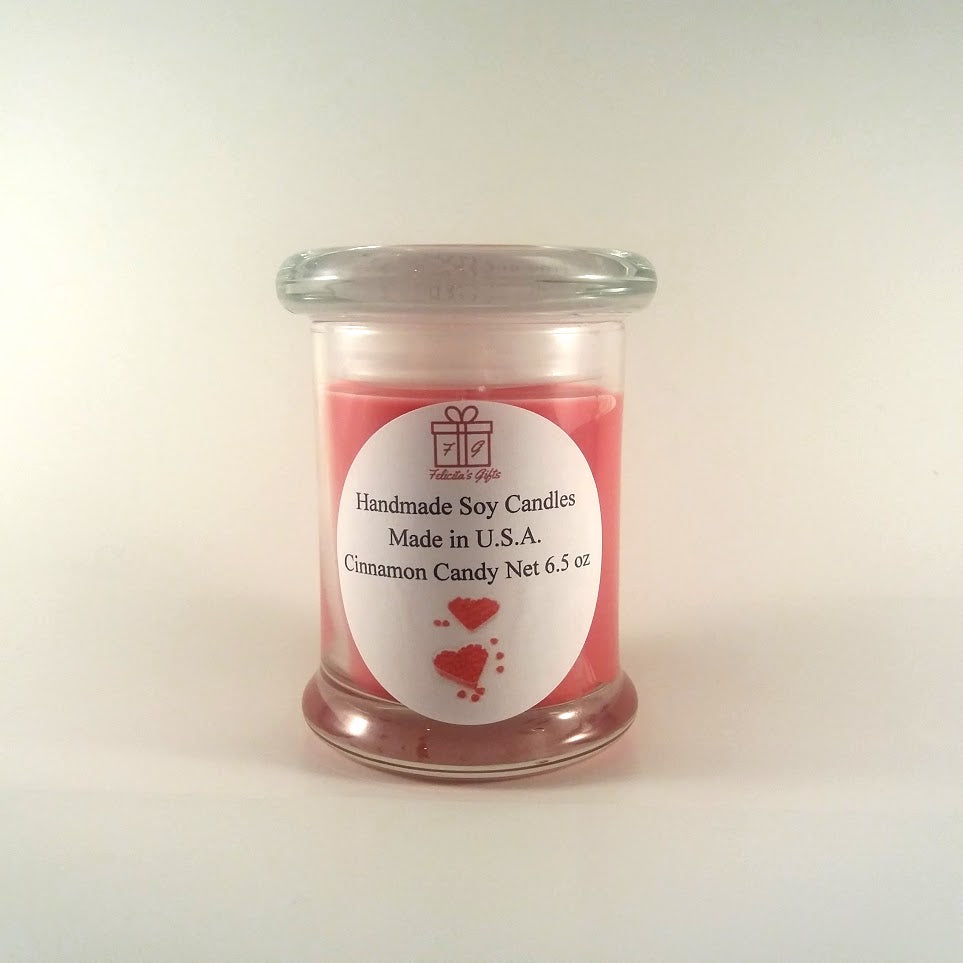 Cinnamon Candy Scented Soy Wax 6.5 oz Candle
