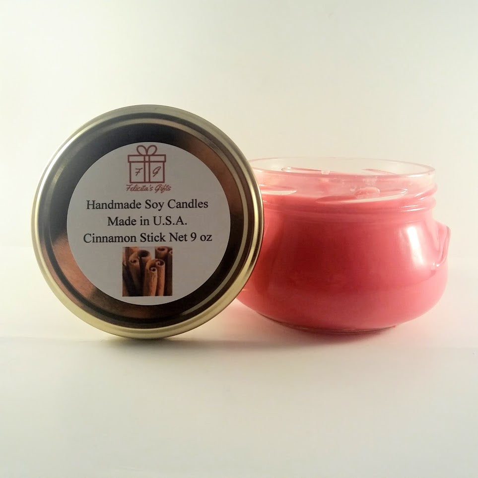 Cinnamon Stick Scented Soy Wax 9 oz Candle
